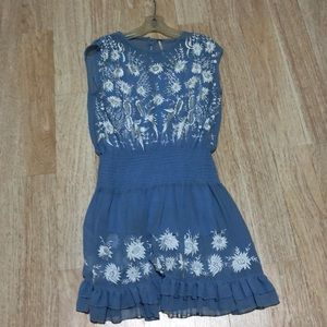 Free people Chiffon dress with attached slip